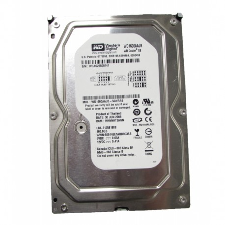 Σκληρός Δίσκος Western Digital WD1600AAJB 160gb P-ATA